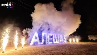 Наземный фейерверк, Пиро-символы Алеша 5, Фонтаны, День рождения, 4158