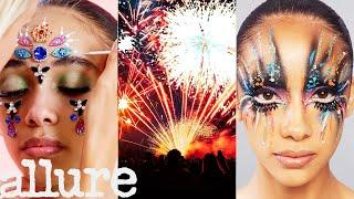 3 Makeup Artists Turn a Model Into Fireworks | Allure