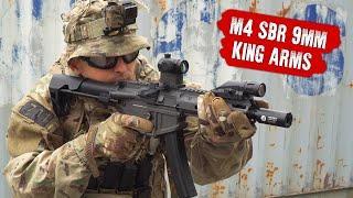 M4 SBR 9MM ОТ KING ARMS. ЛЕГКИЙ ПИСТОЛЕТ-ПУЛЕМЕТ ДЛЯ СТРАЙКБОЛА В CQB.