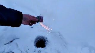 Мощные петарды + ледяная лунка/ Топ 10 петард под лёд/Взрываем мощные петарды/Корсары в ледяной норе