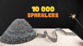 Amazing SPARKLERS Chain Reaction! VOLCANO ERUPTION