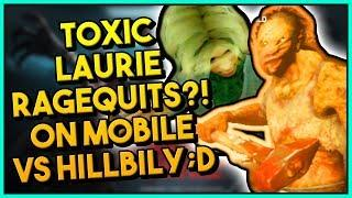 TOXIC LAURIE RAGEQUITS ON MOBILE?! VS HILLBILLY