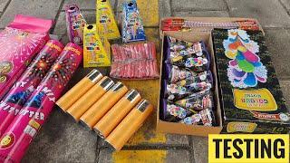 Testing Diwali Crackers Patake testing 2021 Fireworks stash testing Cracker testing Cheap Crackers