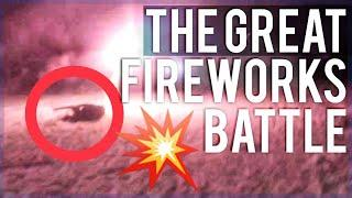 WE SHOT EACH OTHER WITH FIREWORKS! *BAD IDEA!*