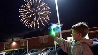 Enjoying Delicious Carnival Food & Fireworks