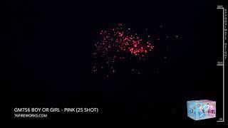 GM756 Boy or Girl - 25 Shot Gender Reveal Fireworks Assortment
