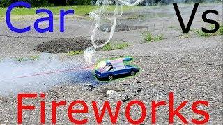 Fireworks Vs Cars - Will They Survive??  (Fun With Fireworks)