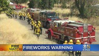 East Bay Firefighters Demonstrate Dangers Of Illegal Fireworks