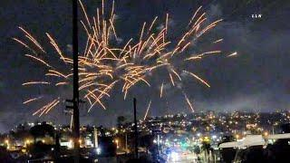 Fireworks Light up the Skies DODGERS WIN WORLD SERIES