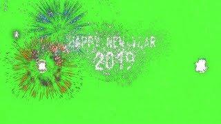 Amazing Happy New Year 2019 Fireworks Celebration Magical Effect | FULL-HD Green Screen