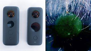 How To Make A Fireworks Video Using An Insta360 360 Camera