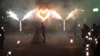Бенгальские огни на свадьбе