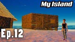 Fireworks and building a Town | Solo Ocean Survival on an Island | My Island