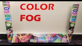 INDIGO Color Fog from Vinayaga Fireworks| Color Fog from Sony Fireworks|Holi Fireworks