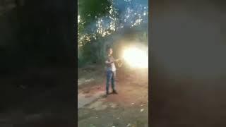 Огненный фонтан ВД 4s - работа в движении