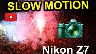 120 FPS Fireworks Slow Motion with Nikon Z7 Mirrorless Digital Camera