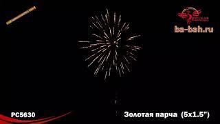 "Римские свечи РС5630 Золотая парча (1,5"" х 5)"