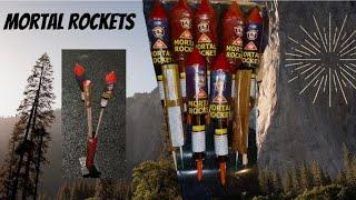 Lighting Up Mortal Rocket Fireworks!