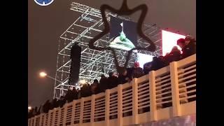 Момент самого обрушения моста в Москве