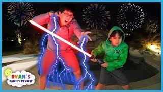 Happy New Year Celebration with Fireworks Family Fun with Ryan's Family Review