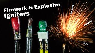Electrical Igniters for fireworks, pyro and explosives - Slow mo macro