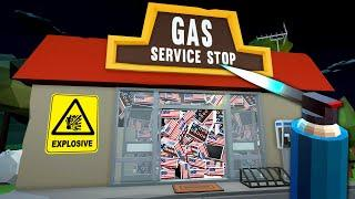 I Filled A Gas Station With Fireworks - Fireworks Mania