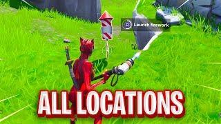 """Launch Fireworks"" FORTNITE MAP LOCATIONS"