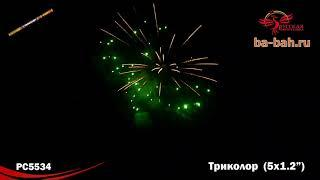 """Римские свечи РС5534 Триколор (1,2"""" х 5)"""