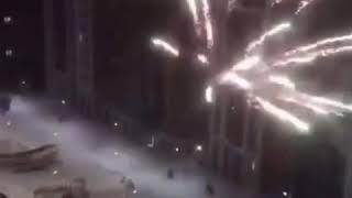 В Уфе в Новый год обстреляли многоэтажку фейерверками