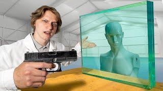 Спасёт ли бронестекло манекен от пули?