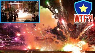 Seattle Police Being Attacked With Fireworks