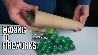 HOW TO MAKE A FIREWORKS WITH CRACKING BALL?