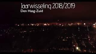 Netherlands-Den Haag-Fireworks-4K-Drone-New Year 2018/2019