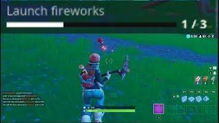 Light 3 Fireworks Locations Fortnite Season 7 Week 4 Challenge
