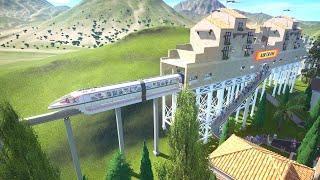 "Planet Coaster sandbox park ""Shandalar"" - Airtram (Pompeii to Laketown)"