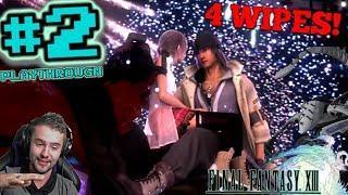 Fireworks scene into Manasvin Warmech wipes! - FFP Plays: Final Fantasy XIII | Pt 2 (PC)