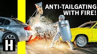 Testing the Ultimate Anti-Tailgating Device, Using FIREWORKS