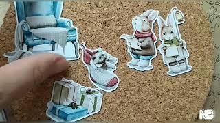 """Фигурки из пластика/""""New"""" коллекция скрапбумаги и декор к ней от TMScrapbookDesigns/#скрапбукинг"""