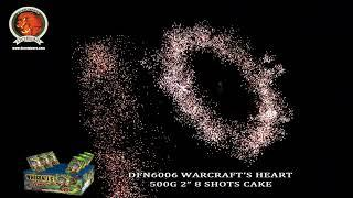 "DFN6006 WARCRAFT'S HEART 2"" 8 SHOTS CAKE/CONSUMER FIREWORKS/500G CAKE/1.4G CAKE/UN0336 FIREWORKS"