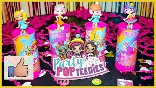 Моя новая игрушка кукла Party PopTeenies РАСПАКОВКА хлопушки с сюрпризом Куколка с аксессуарами