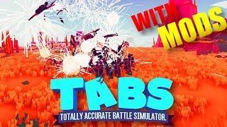 (50v100) | 50 Shield bearers VS 100 fireworks Archers | TABS with Mods