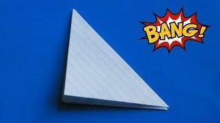 оригами для детей хлопушка двойная из бумаги, оригами самая громкая хлопушка, origami flapper