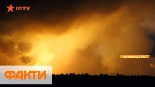 Пожар в Ичне начался с четырех взрывов – Минобороны