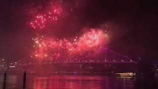 Spectacular Fireworks Event In Brisbane, Australia
