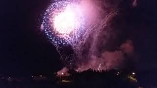 GIANT,CALVIN HARRIS WITH FIREWORKS FROM LIJA MALTA TODAY LAWRENCE MAST.