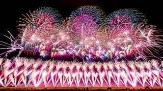 "[4k]Amazing ""Shinmei Fireworks"" in the World [Japan]"