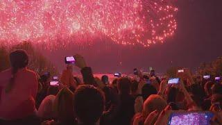 Russia celebrates Victory Day with fireworks and a military parade