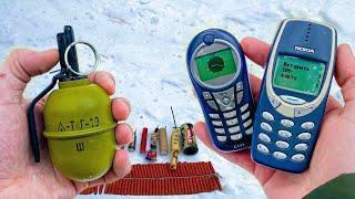 ✅ МОЩНАЯ ПЕТАРДА + NOKIA 3310 и MOTOROLA C115
