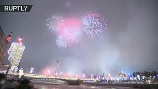 Welcome 2021 | New Year fireworks light up Moscow sky