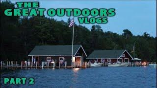 Great Lakes Islands, Boat Ride, Boathouses, & Fireworks! Fourth of July! - The Great Outdoors Part 2